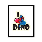 I Love Dino Framed Panel Print
