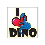 I Love Dino Square Sticker 3
