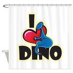I Love Dino Shower Curtain