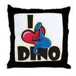 I Love Dino Throw Pillow