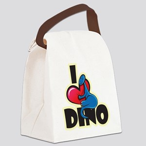 I Love Dino Canvas Lunch Bag