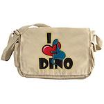 I Love Dino Messenger Bag