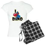 I Love Dino Women's Light Pajamas