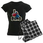 I Love Dino Women's Dark Pajamas