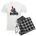 I Love Dino Men's Light Pajamas