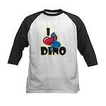 I Love Dino Kids Baseball Jersey