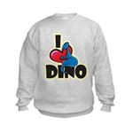 I Love Dino Kids Sweatshirt