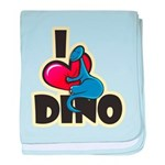 I Love Dino baby blanket
