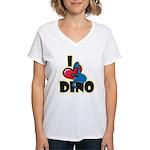 I Love Dino Women's V-Neck T-Shirt