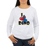 I Love Dino Women's Long Sleeve T-Shirt
