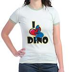 I Love Dino Jr. Ringer T-Shirt