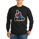 I Love Dino Long Sleeve Dark T-Shirt