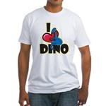 I Love Dino Fitted T-Shirt