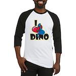 I Love Dino Baseball Jersey