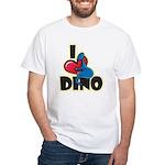 I Love Dino White T-Shirt