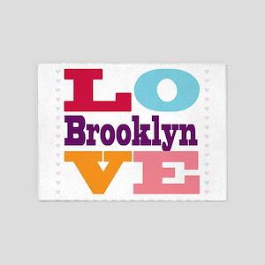 I Love Brooklyn 5'x7'Area Rug