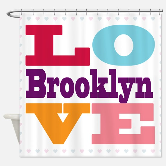 I Love Brooklyn Shower Curtain