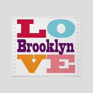 I Love Brooklyn Throw Blanket