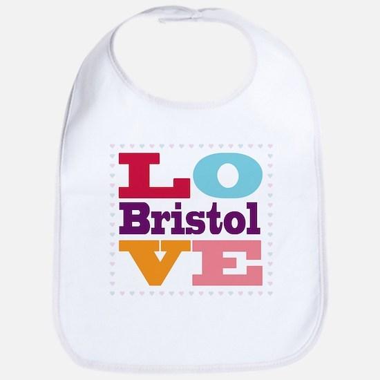 I Love Bristol Bib