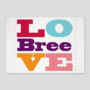 I Love Bree 5'x7'Area Rug