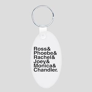 Friends Name List Aluminum Oval Keychain