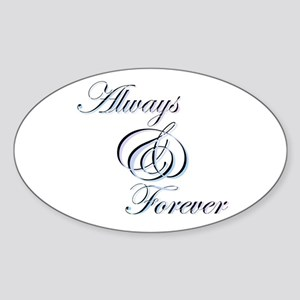 Always & Forever Oval Sticker