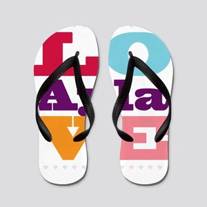 I Love Ayla Flip Flops