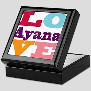 I Love Ayana Keepsake Box