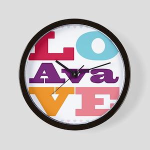 I Love Ava Wall Clock