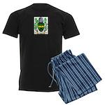 Attoc Men's Dark Pajamas