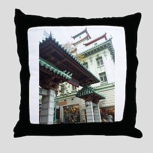 Chinatown, San Francisco Throw Pillow