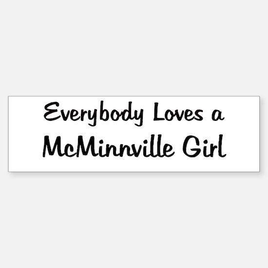 McMinnville Girl Bumper Bumper Bumper Sticker