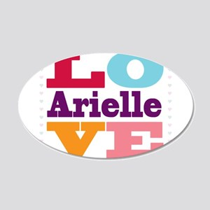 I Love Arielle 20x12 Oval Wall Decal