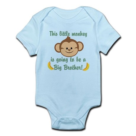 Big Brother To Be Monkey Infant Bodysuit