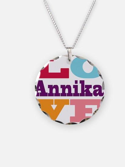 I Love Annika Necklace