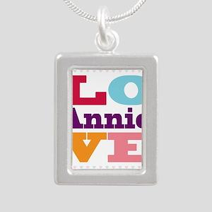 I Love Annie Silver Portrait Necklace
