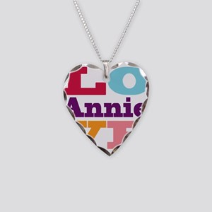 I Love Annie Necklace Heart Charm
