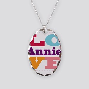 I Love Annie Necklace Oval Charm