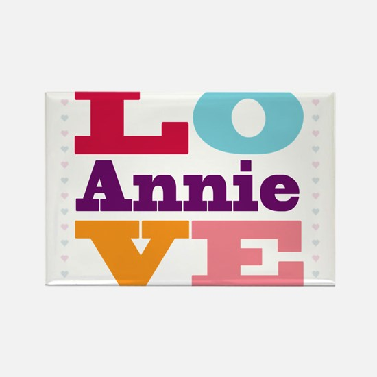 I Love Annie Rectangle Magnet