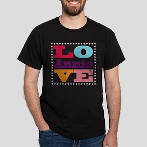 I Love Annie Dark T-Shirt