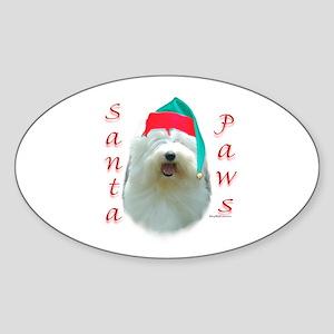 Santa Paws OES Oval Sticker