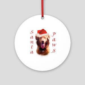 Santa Paws Nova Scotia Ornament (Round)