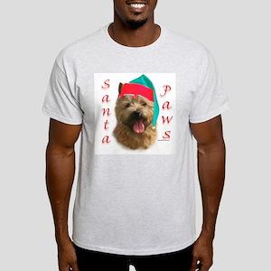 Santa Paws Norwich Terrier Ash Grey T-Shirt