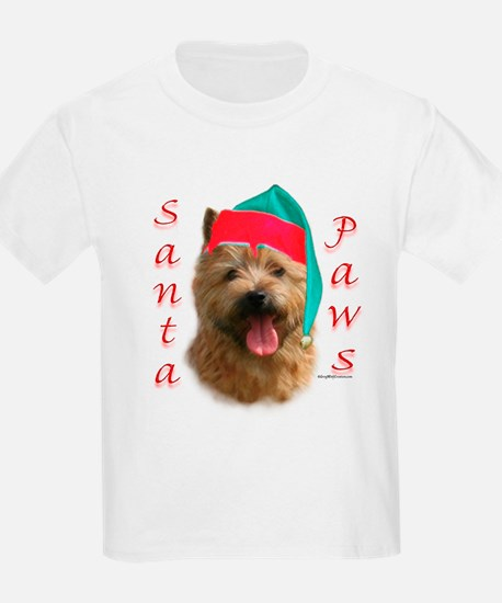 Santa Paws Norwich Terrier Kids T-Shirt