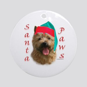 Santa Paws Norwich Terrier Ornament (Round)