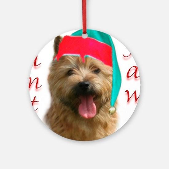 Santa Paws Norwich Terrier Ornament (Round)