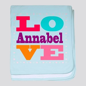 I Love Annabel baby blanket