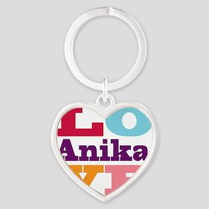 I Love Anika Heart Keychain