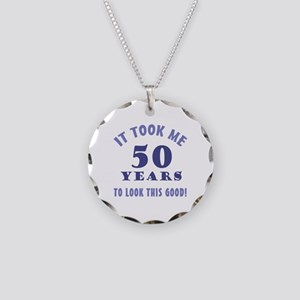 Hilarious 50th Birthday Gag Gifts Necklace Circle