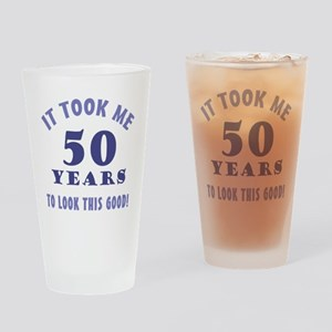 Hilarious 50th Birthday Gag Gifts Drinking Glass